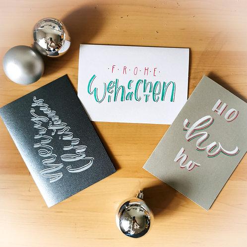 Handgemachte Weihnachtskarten Set