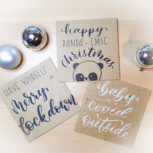 Handgemachtes Weihnachtskarten Set Corona