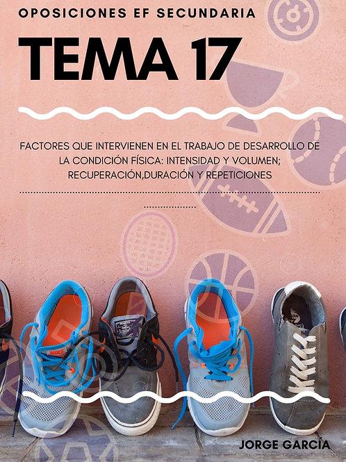 TEMA 17. FACTORES QUE INTERVIENEN EN EL TRABAJO DE DESARROLLO DE LA CF