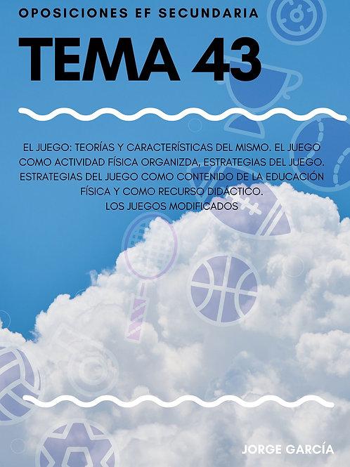 TEMA 43 - EL JUEGO