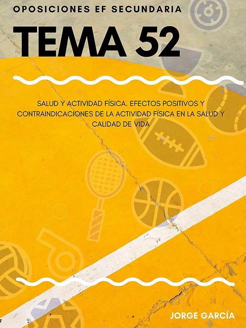 TEMA 52. SALUD Y ACTIVIDAD FÍSICA