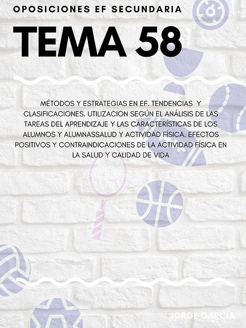 TEMA 58. MÉTODOS Y ESTRATEGIAS EN EF