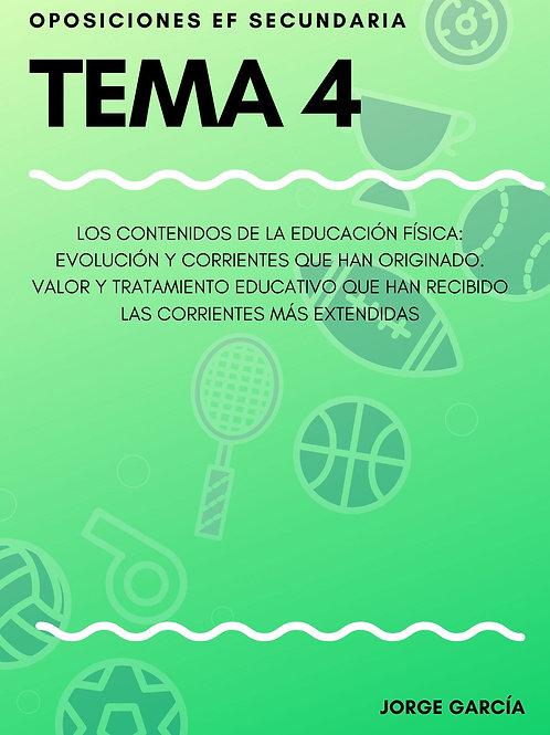 TEMA 4. LOS CONTENIDOS DE LA EDUCACIÓN FÍSICA