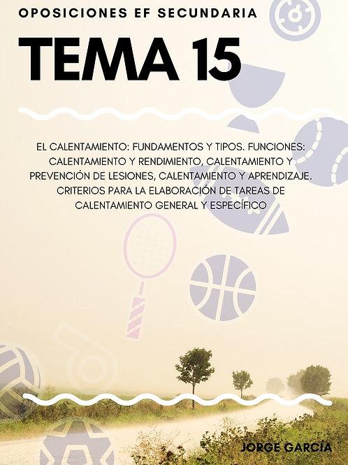 TEMA 15. EL CALENTAMIENTO