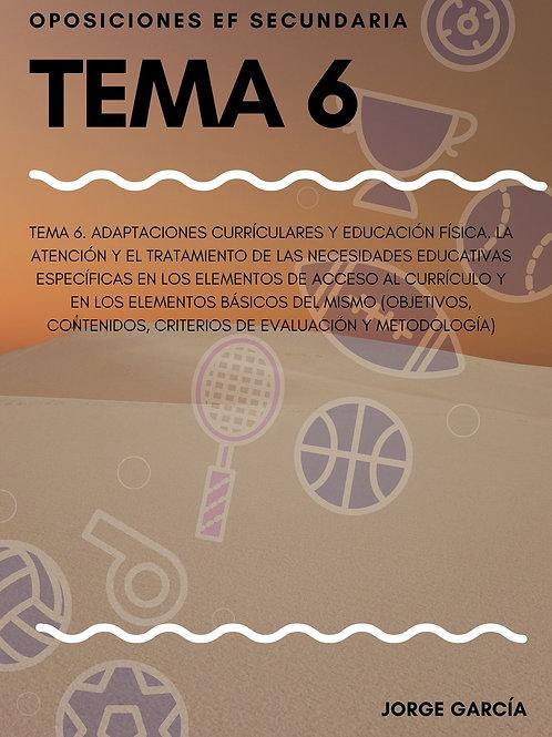 TEMA 6. ADAPTACIONES CURRÍCULARES Y EDUCACIÓN FÍSICA