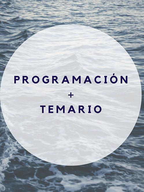 TEMARIO + PROGRAMACIÓN + EXTRAS