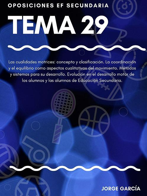 TEMA 29. LAS CUALIDADES MOTRICES