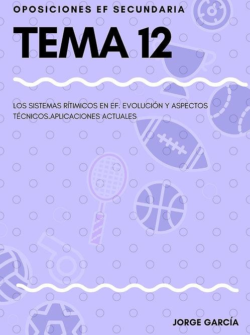 TEMA 12. LOS SISTEMAS RÍTIMICOS EN EF