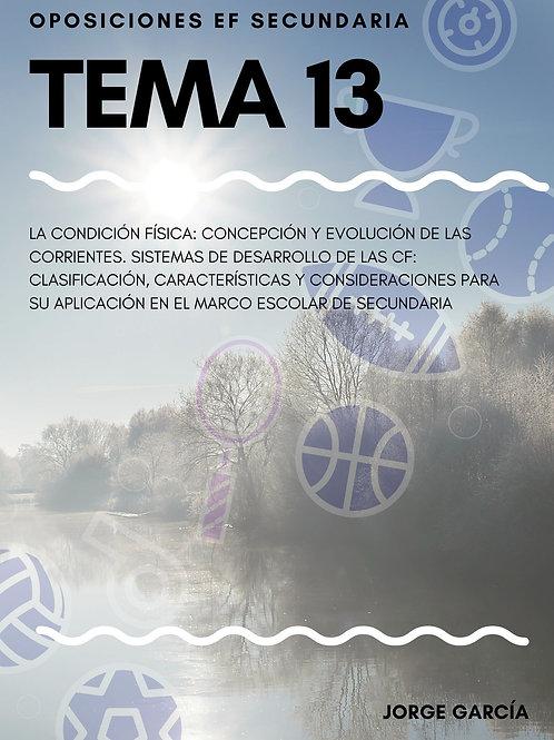TEMA 13. LA CONDICIÓN FÍSICA