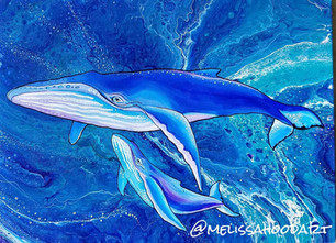 Whale Mother and Calf Melissa Hood