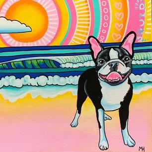 Boston Terrier Painting by Melissa Hood