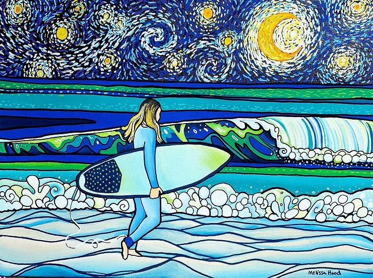 Starry Night Surfer