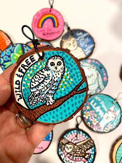 Wild and Free Owl Ornament