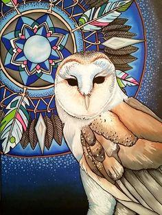 Barn Owl Mandala Print