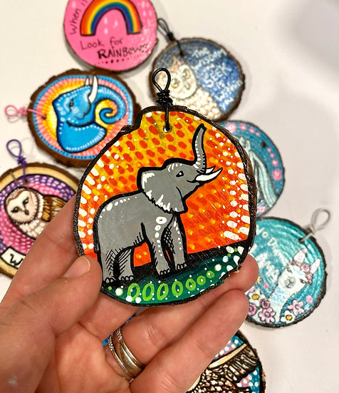 Sunrise Elephant Ornament