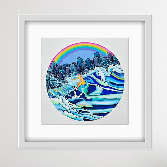 Inlet Rainbow Art Print