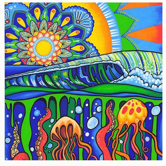 "Jelly Mandala Print 16x20"""