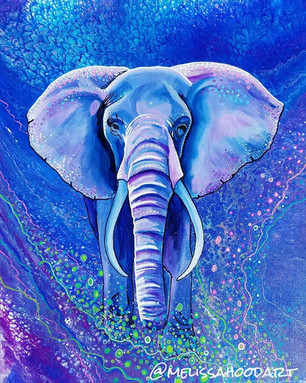 Colorful Elephant painting by Melissa Hood