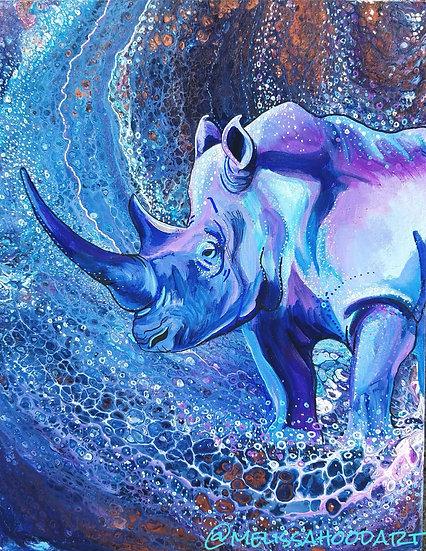 """The Proud Rhino 8x10"""" Print"""