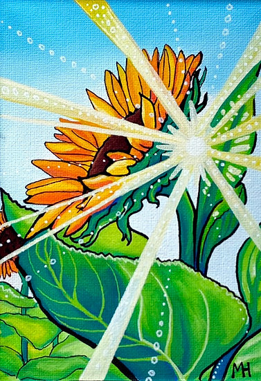 "Sunbeam Sunflower 5""x7"""