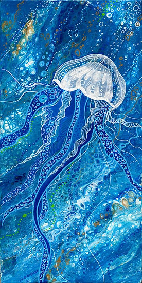Blue Jelly Print