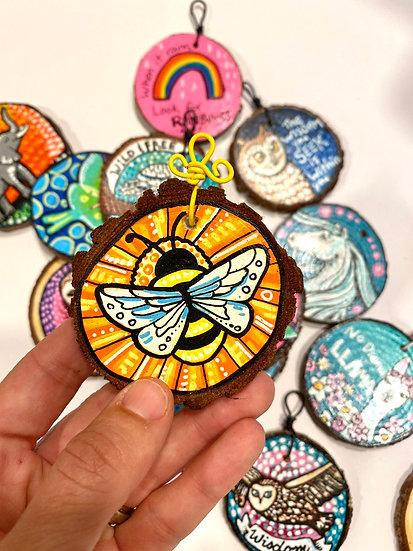 Happy Bee Ornament