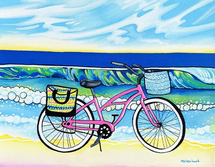 Pink Beach Cruiser Art