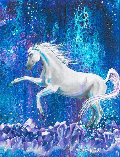 Amethyst Arabian Horse Print