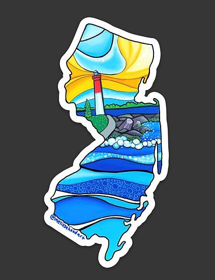 New Jersey Lighthouse Sticker