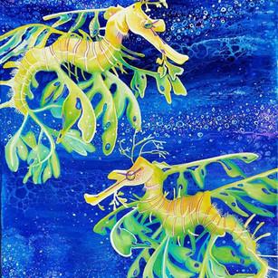 Leafy Sea Dragon painting by Melissa Hood