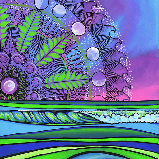 Mandala Moonrise Print