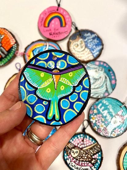 Blue Luna Moth Ornament