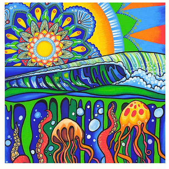 "Jelly Mandala 8x10"" print"
