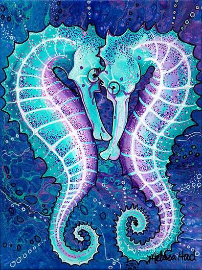 Sea Horse Lovers Print