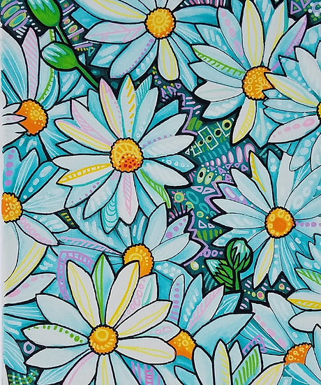 Crazy Daisy Original Painting