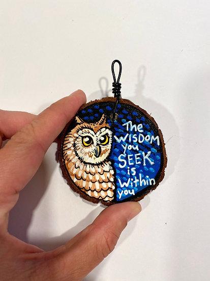 Wisdom Owl Ornament