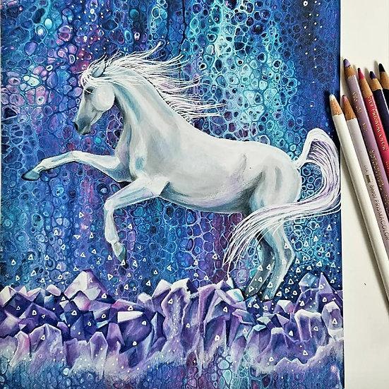 Amethyst Horse Original Painting