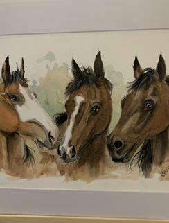 Watercolour Horses