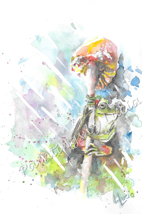 A4 Frog Watercolour Original