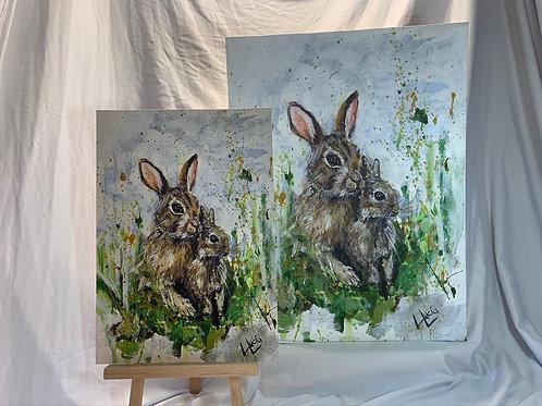 Wild Rabbits Acrylic