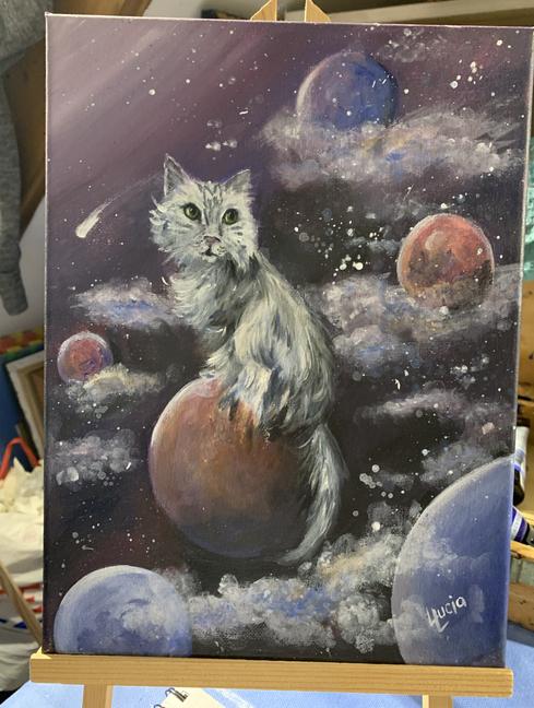 Acrylic Cat
