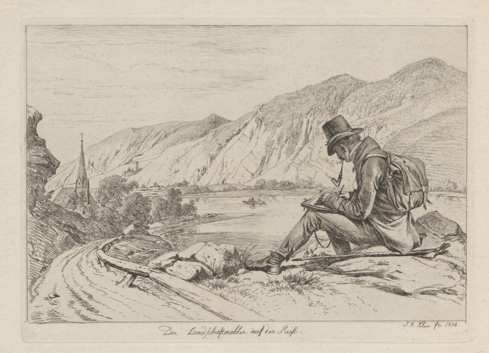 Johann Adam Klein, Die Landschaftmahler auf der Reise, 1814