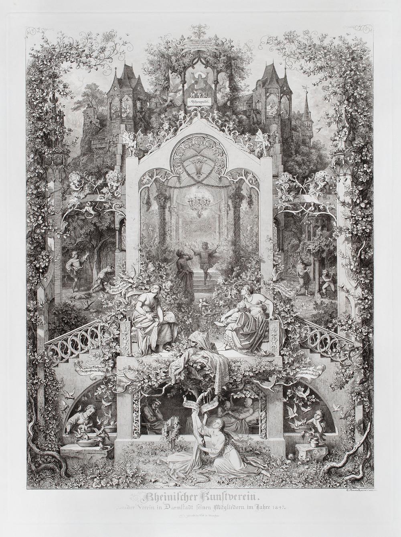 Eugen Napoleon Neureuther, Dornröschen. Märchen von Grimm, 1836