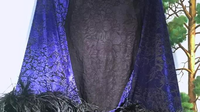 Cache-cœur bleu nuit - Gaby Deslys