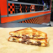 Bread and cheese food truck sandwich