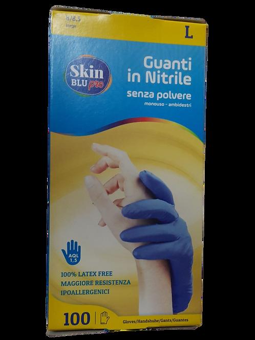 Guanti nitrile senza polvere monouso taglia M Cat. I
