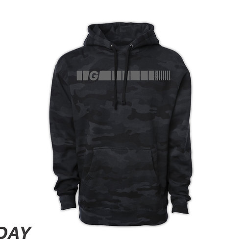 "Safety First ""ELW"" BLACK CAMO HOODIE"