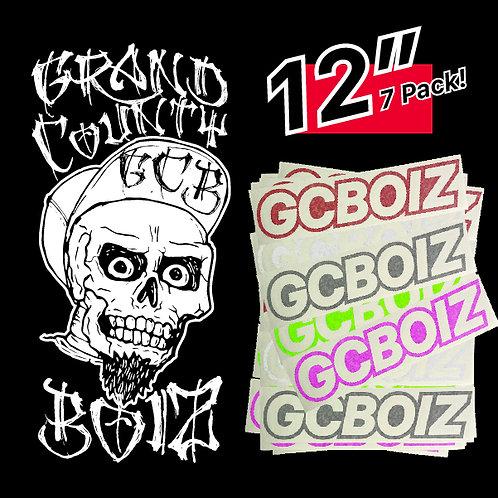 "12"" GCBOIZ Cut Vinyl Sticker (7 Pack)"