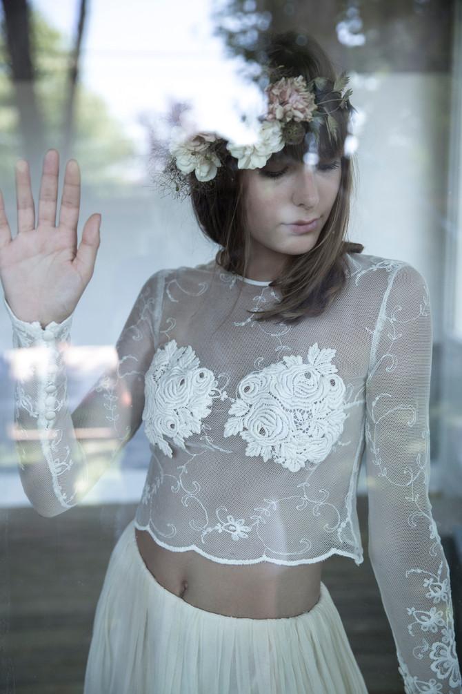 Les robes de mariée de SYLVIE MISPOUILLE dans le ELLE du mois / Photos by HELENE PERRY