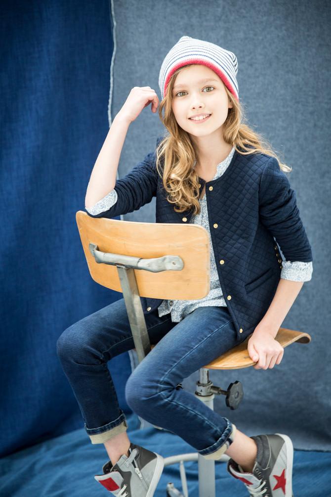 Helene Perry shoote Cyrillus H16 en mode JEAN pour l'hiver